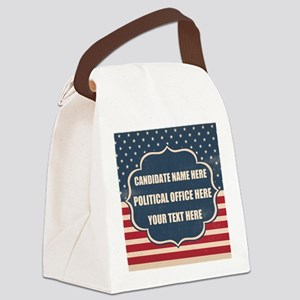 Personalized USA President Canvas Lunch Bag