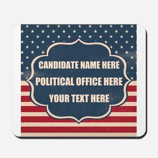Personalized USA President Mousepad