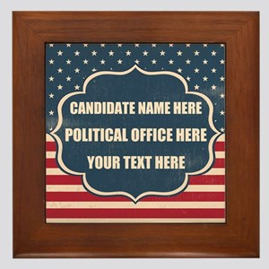 Personalized USA President Framed Tile