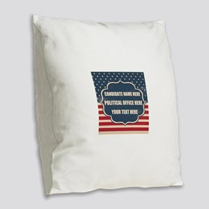 Personalized USA President Burlap Throw Pillow