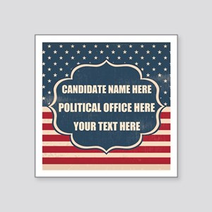 "Personalized USA President Square Sticker 3"" x 3"""