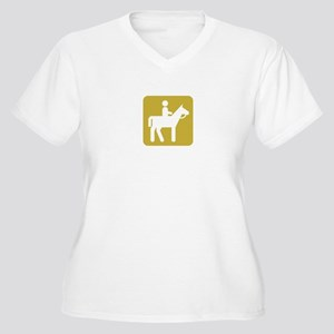 HORSEBACK RIDING Women's Plus Size V-Neck T-Shirt