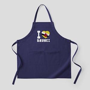 I Love Brunei Apron (dark)