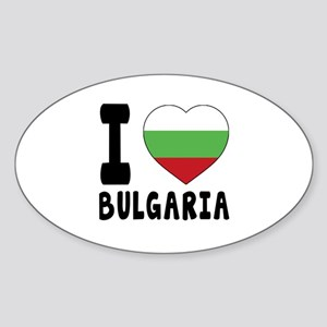 I Love Bulgaria Sticker (Oval)