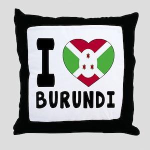 I Love Burundi Throw Pillow