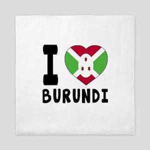 I Love Burundi Queen Duvet