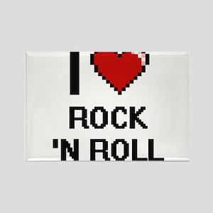 I love Rock 'N Roll digital design Magnets