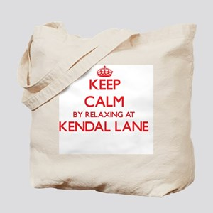 Keep calm by relaxing at Kendal Lane Mass Tote Bag