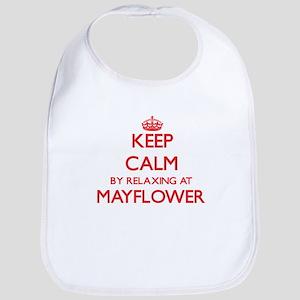 Keep calm by relaxing at Mayflower Massachuset Bib
