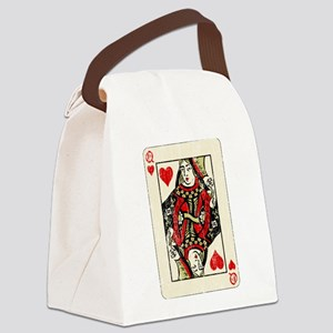 Retro Queen Of Hearts Canvas Lunch Bag