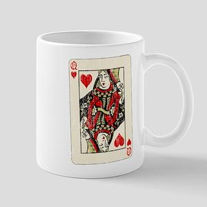 Retro Queen Of Hearts Mugs