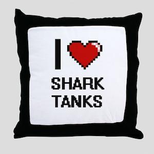 I love Shark Tanks digital design Throw Pillow
