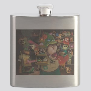 Three Friendly Halloween Witches cooking Flask