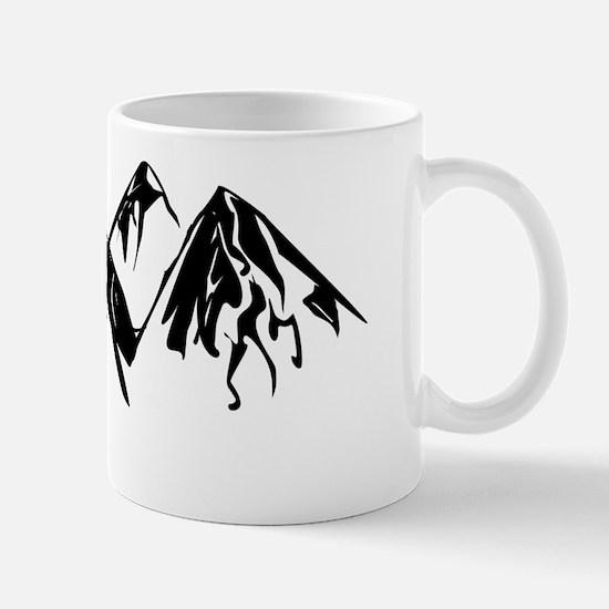 Mountains Landscape Drawing Mugs