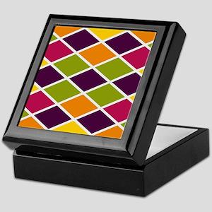 Colorful Abstract Triangles Backgroun Keepsake Box