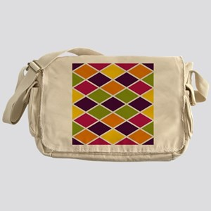 Colorful Abstract Triangles Backgrou Messenger Bag