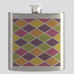 Colorful Abstract Triangles Background Flask
