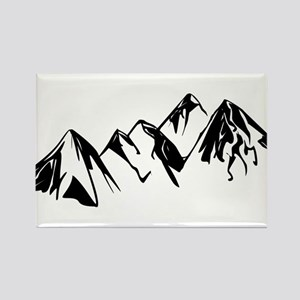 Mountains Landscape Drawing Magnets