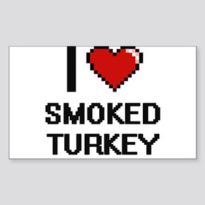 I love Smoked Turkey digital design Sticker