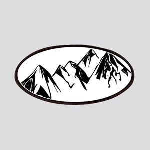 Mountains Landscape Drawing Patch