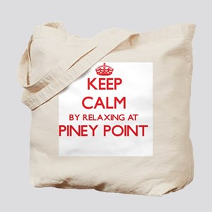 Keep calm by relaxing at Piney Point Mass Tote Bag