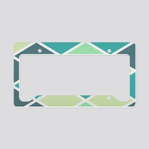 Colorful Abstract Triangles B License Plate Holder