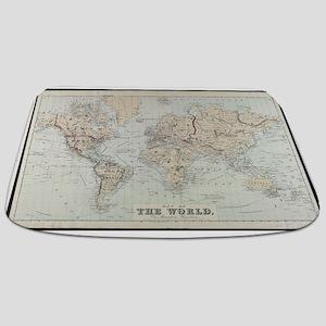 Vintage Map of The World (1875) Bathmat