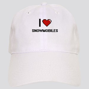 22b31854288 I love Snowmobiles digital design Cap