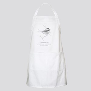 2 Corinthians 9:6 Chickadee Drawing Apron