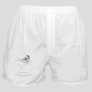 2 Corinthians 9:6 Chickadee Drawing Boxer Shorts