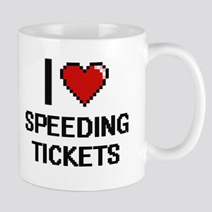 I love Speeding Tickets digital design Mugs