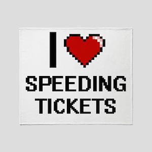 I love Speeding Tickets digital desi Throw Blanket