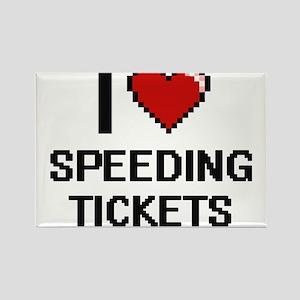 I love Speeding Tickets digital design Magnets