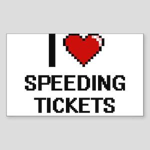 I love Speeding Tickets digital design Sticker