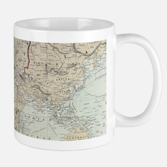 Vintage Map of The World (1875) Mugs