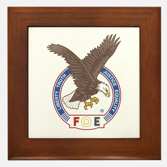 Cute Eagles Framed Tile