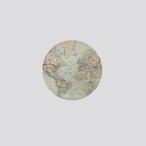 Vintage Map of The World (1875) Mini Button