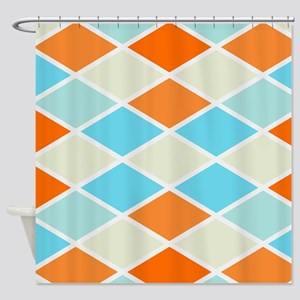 Colorful Abstract Triangles Backgro Shower Curtain