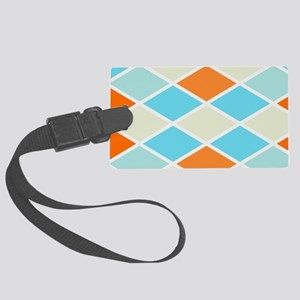 Colorful Abstract Triangles Back Large Luggage Tag
