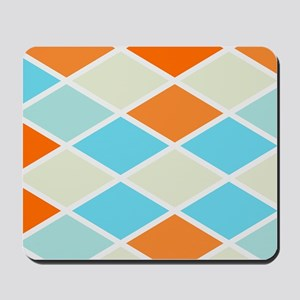 Colorful Abstract Triangles Background Mousepad