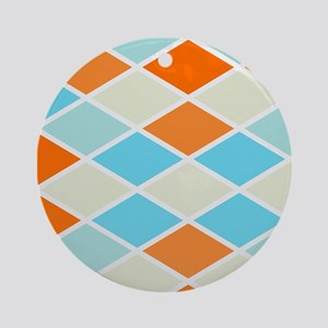 Colorful Abstract Triangles Backgro Round Ornament