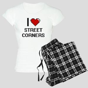 I love Street Corners digit Women's Light Pajamas