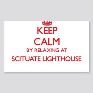 Keep calm by relaxing at Scituate Lighthou Sticker