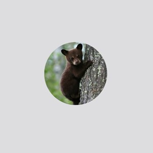 Bear Cub Climbing a Tree Mini Button