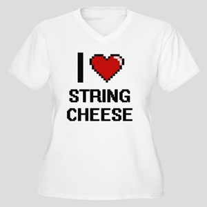 I love String Cheese digital des Plus Size T-Shirt