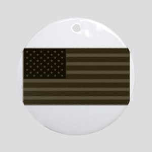 US Flag OD Patch Ornament (Round)