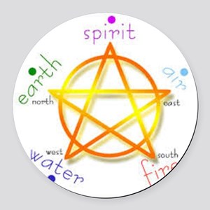 Pentacle Round Car Magnet