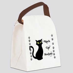 Black Cat Society Canvas Lunch Bag