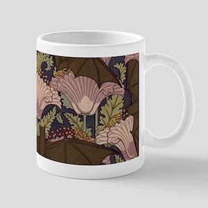 Vintage Art Deco Bat and Flowers Mugs