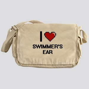 I love Swimmer'S Ear digital design Messenger Bag